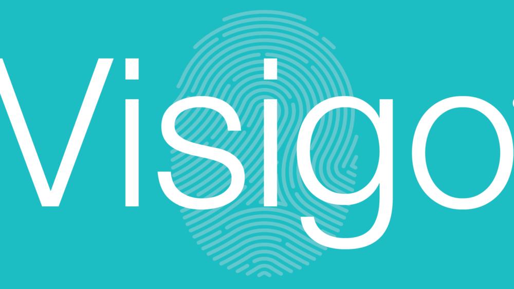 Visigo Logo withR - Turquoise Background-01